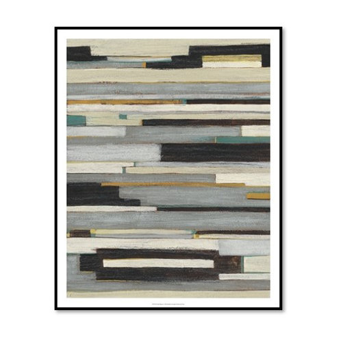 Textile Ratio I - Framed & Mounted Art