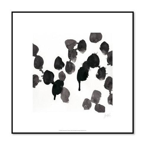 Monochrome Gestures VII - Framed & Mounted Art
