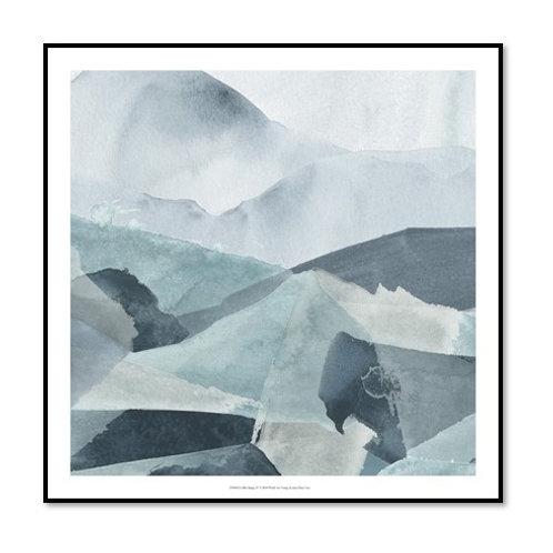 Blue Range IV - Framed & Mounted Art