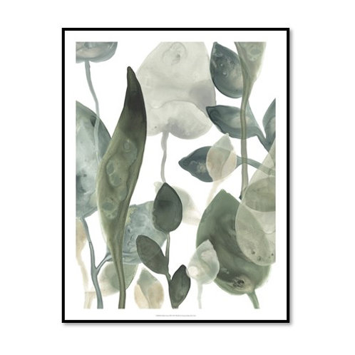 Water Leaves III - Framed & Mounted Art