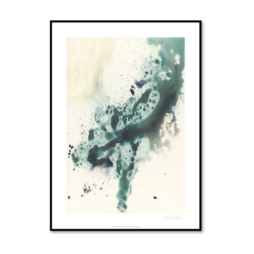 Teal Tributary II - Framed & Mounted Art