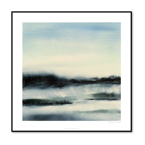 Aqueous Scape - Framed & Mounted Art
