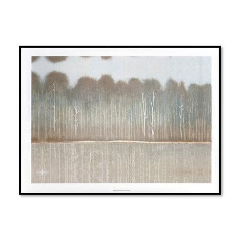 Along the Riverbank I - Framed & Mounted Art