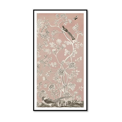 Blush Chinoiserie I - Framed & Mounted Art