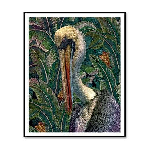 Primal Pelicana - Framed & Mounted Art