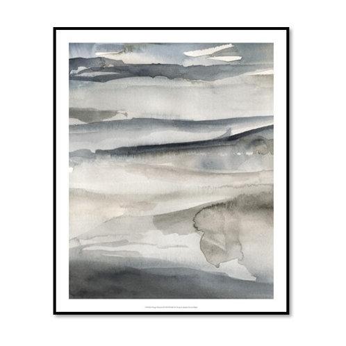 Foggy Horizon II - Framed & Mounted Art