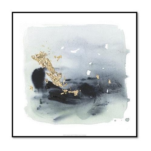 Cerulean Gold II - Framed & Mounted Art