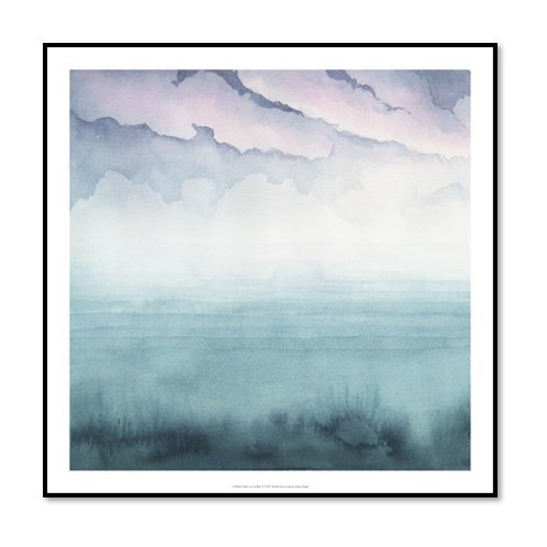 Dusk on the Bay I - Framed & Mounted Art