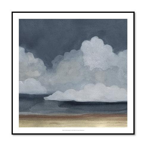 Cloud Landscape IV - Framed & Mounted Art