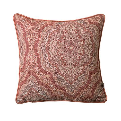 Sheba Paisley 43x43cm Cushion, Rust