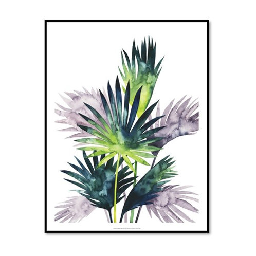 Twilight Palms III - Framed & Mounted Art