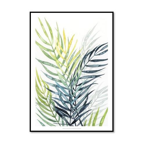 Sunset Palm Composition II - Framed & Mounted Art