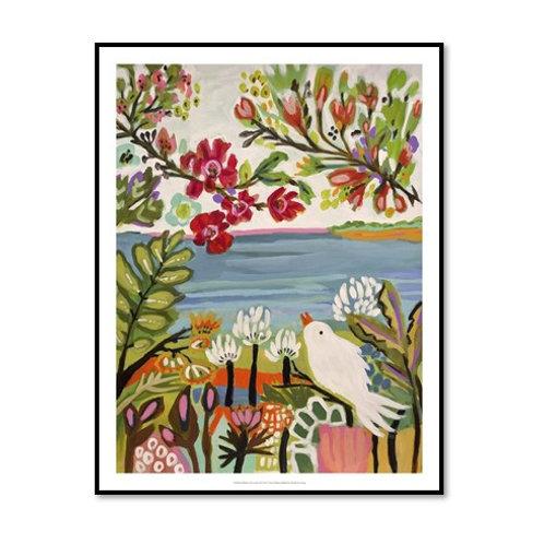 Birds in the Garden II - Framed & Mounted Art