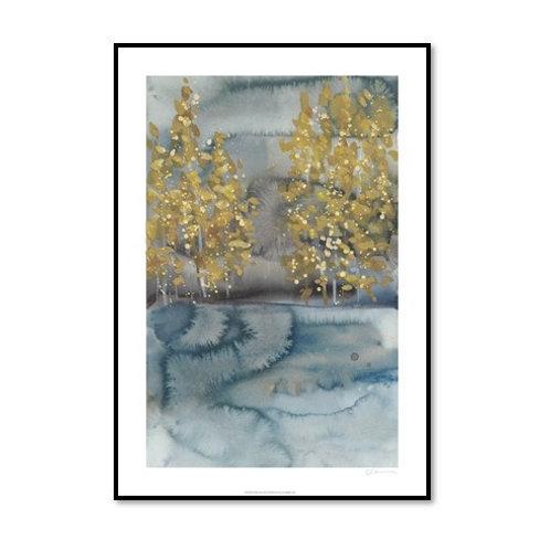 Golden Trees II - Framed & Mounted Art