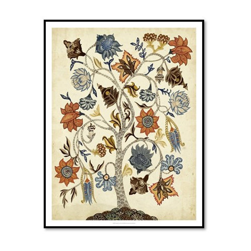 Vintage Tree of Life - Framed & Mounted Art
