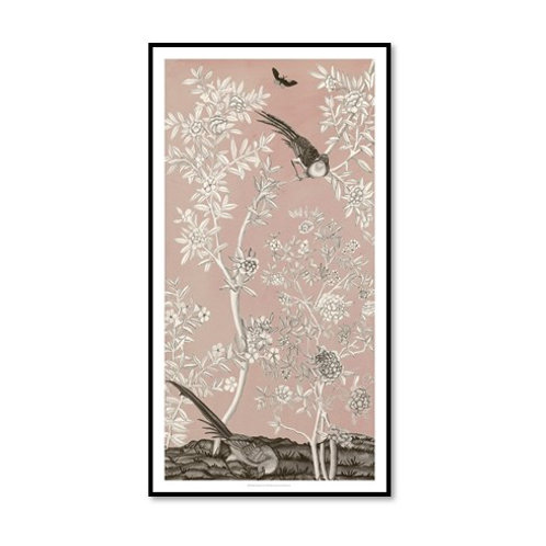 Blush Chinoiserie II - Framed & Mounted Art