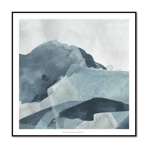 Blue Range I - Framed & Mounted Art