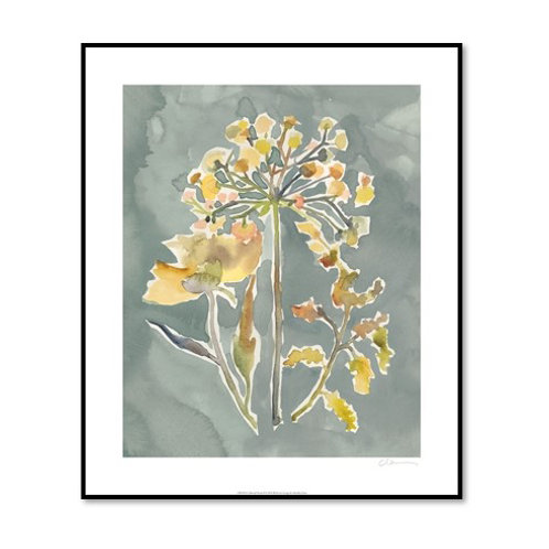 Collected Florals II - Framed & Mounted Art