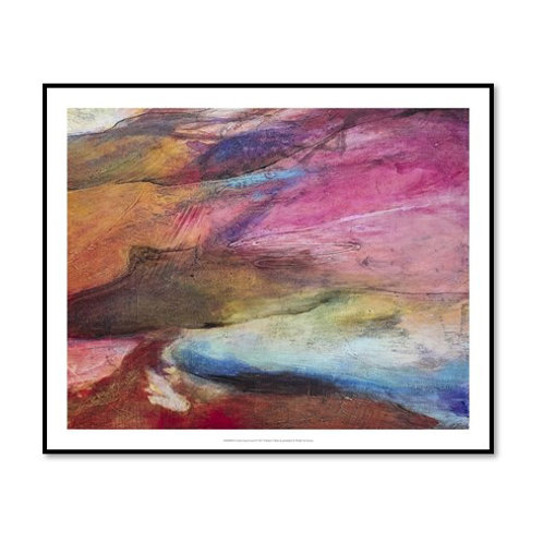 Fuchsia Expression I - Framed & Mounted Art