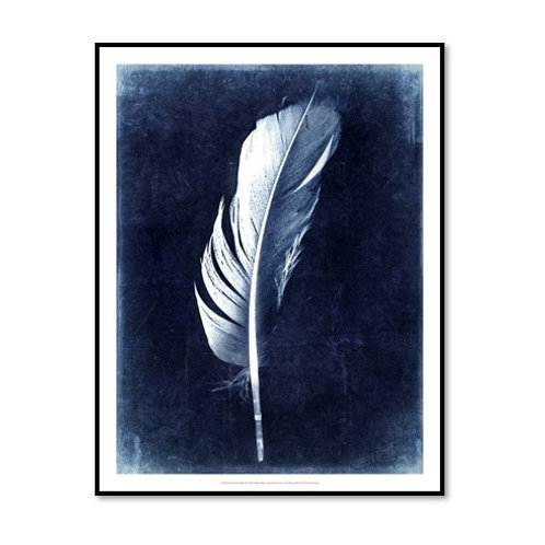 Inverted Feather II - Framed & Mounted Art