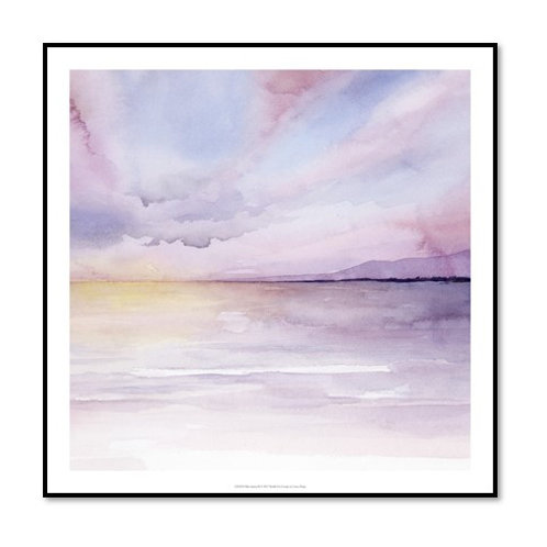 Pale Sunset II - Framed & Mounted Art