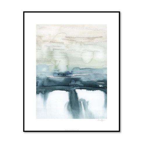 Organic Cascade II - Framed & Mounted Art