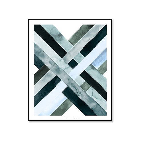 Watercolour Weave I - Framed & Mounted Art