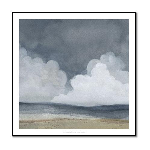 Cloud Landscape II - Framed & Mounted Art