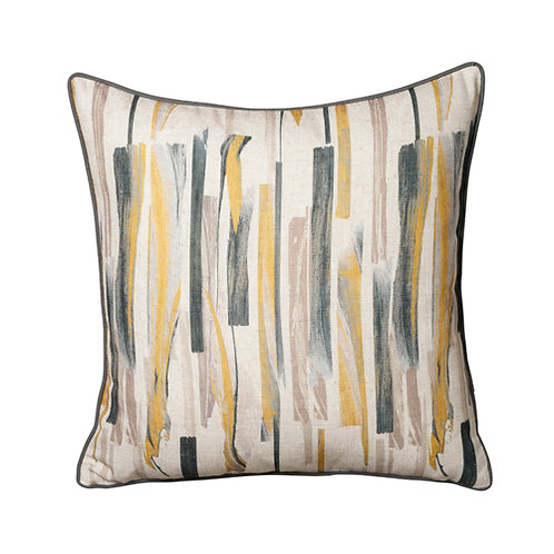 Brushstroke 45 x 45cm Cushion, Ochre