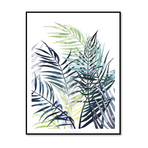 Twilight Palms I - Framed & Mounted Art