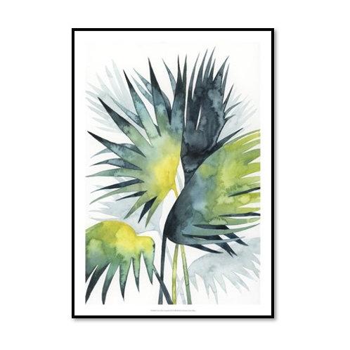 Sunset Palm Composition IV - Framed & Mounted Art