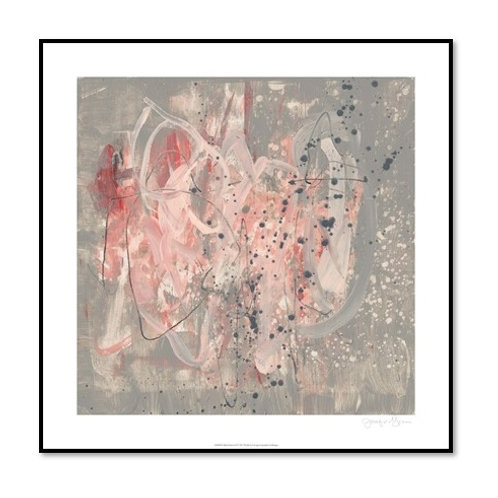 Blush Kinesis II - Framed & Mounted Art