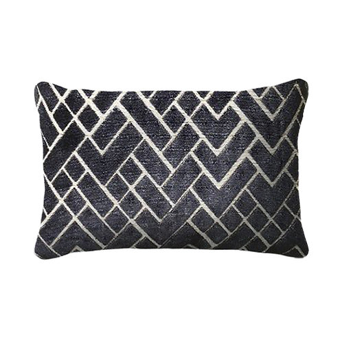 Fracture 35x50cm Cushion, Navy