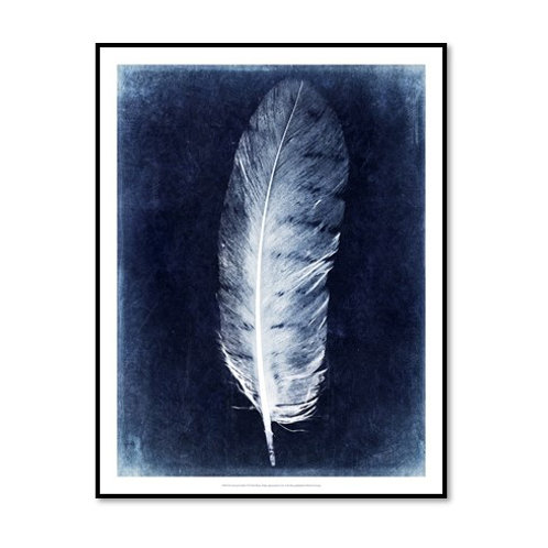 Inverted Feather VI - Framed & Mounted Art