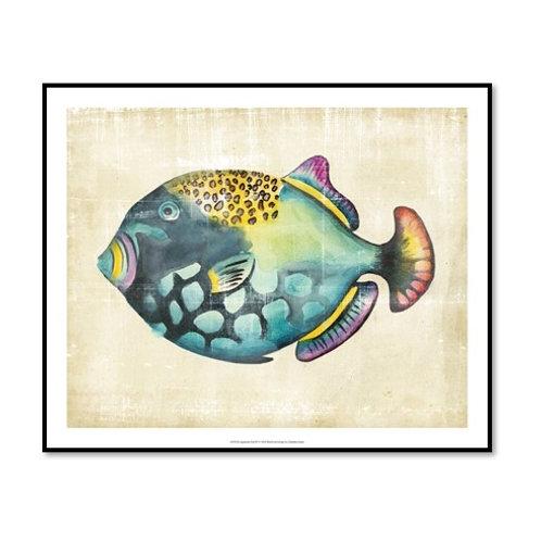 Aquarium Fish IV - Framed & Mounted Art