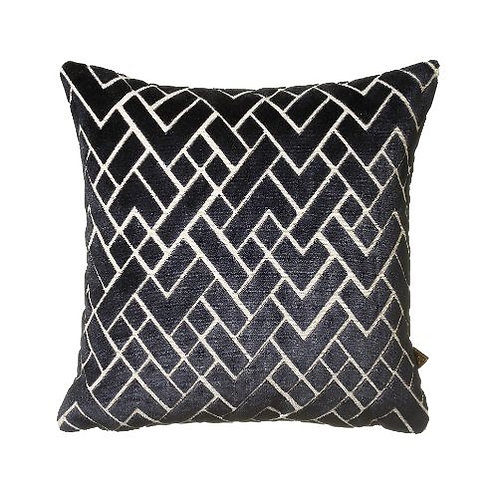 Fracture 43x43cm Cushion, Navy