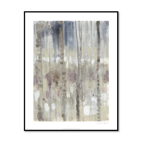 Subtle Birchline II - Framed & Mounted Art