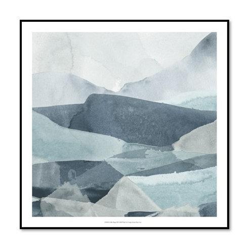Blue Range III - Framed & Mounted Art