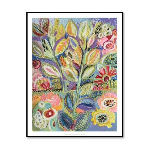 Garden of Whimsy II - Framed & Mounted Art
