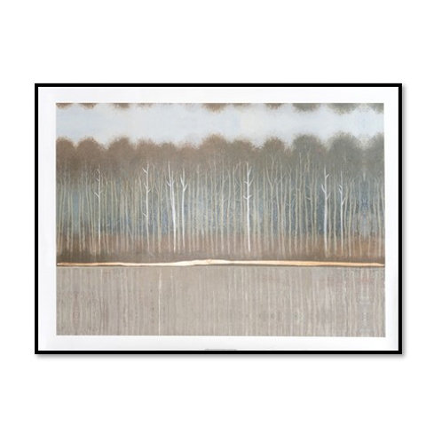 Along the Riverbank II - Framed & Mounted Art