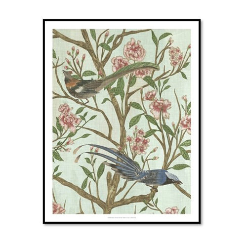 Delicate Chinoiserie II - Framed & Mounted Art