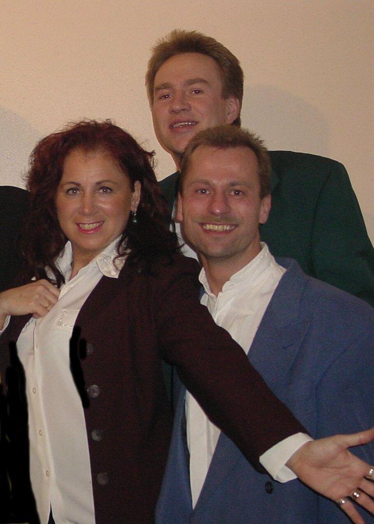 Claudia, Eddie & Holger 2002
