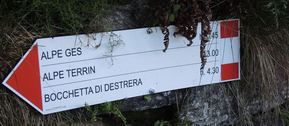 Cialma Linsor e Monte Destrera - anello per i valloni dell'Alpuggio e di Valsoera