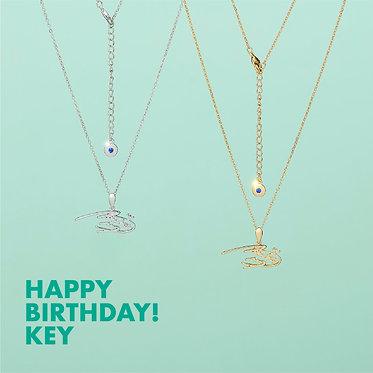KEY's Birthday Necklace
