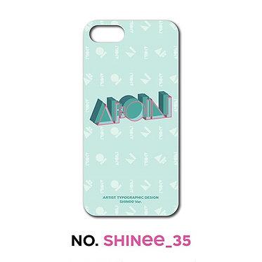 SHINee Typographic Phone Case