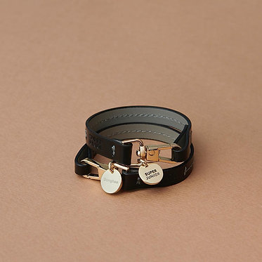 SUPER JUNIOR Stitch Leather Bracelet