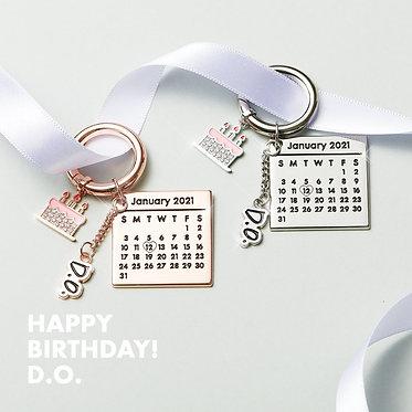 D.O's Birthday Keyring