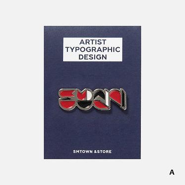 SMTOWN Typographic Badge