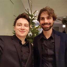 Weihnachtsfeier bei Daimler / Janis-Ian-Duo   Saxophon-Gitarren-Duo