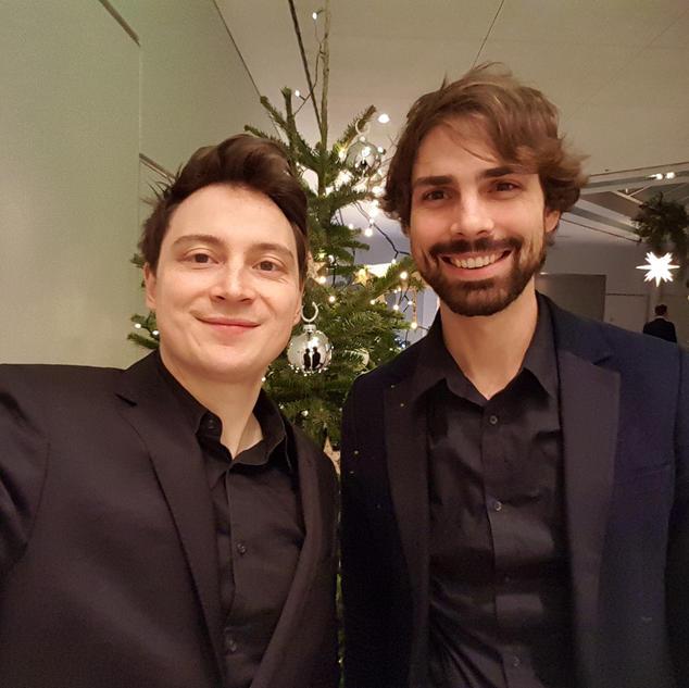 Weihnachtsfeier bei Daimler / Janis-Ian-Duo | Saxophon-Gitarren-Duo